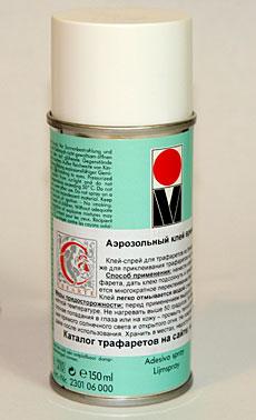 Аэрозольный клей 4