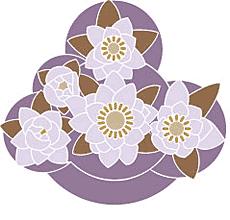Корзина цветов (художественный трафарет)
