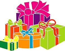 Подарки (трафарет для покраски)