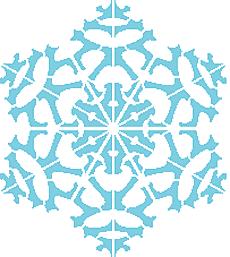 Снежинка I (трафарет для рисования)