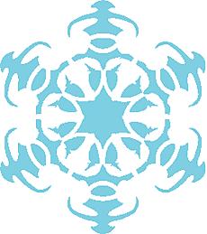 Снежинка II (художественный трафарет)