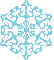 Снежинка III (трафарет для росписи)