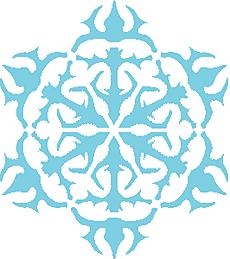 Снежинка IV (трафарет для декора)