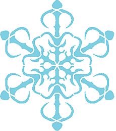 Снежинка V (трафарет для покраски)