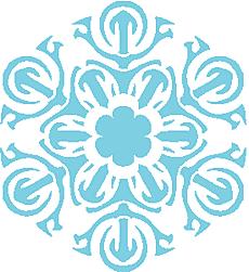 Снежинка VI (трафарет для стен)