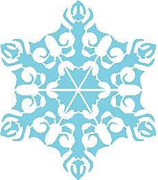 Снежинка VII (трафарет для рисования)