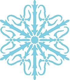 Снежинка IIX (художественный трафарет)