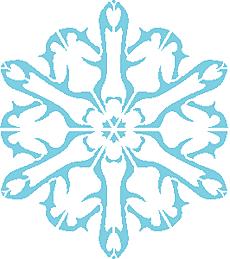 Снежинка IX (трафарет для росписи)