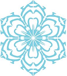 Снежинка X (трафарет для декора)
