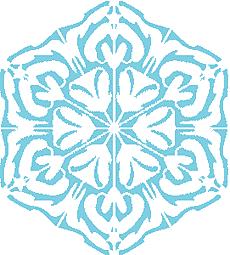 Снежинка XI (трафарет для покраски)