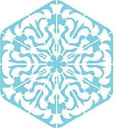 Снежинка XII (трафарет для стен)