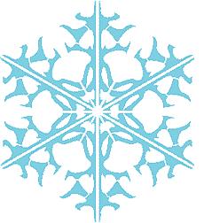 Снежинка XIII (трафарет для рисования)