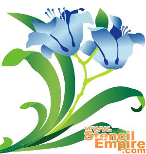 Две лилии (трафарет для покраски)