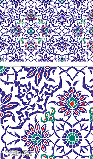 Плитка Изника (художественный трафарет)