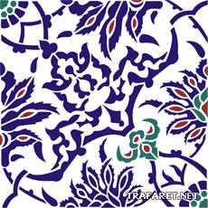 Плитка из мечети (трафарет для росписи)