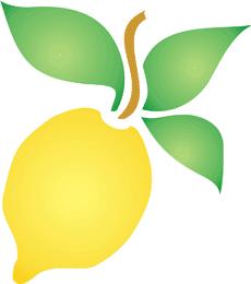 Лимончик (художественный трафарет)