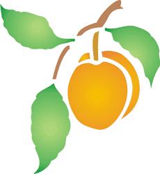 Персик 1 (трафарет для росписи)
