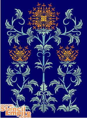Шотландский чертополох (трафарет для росписи)
