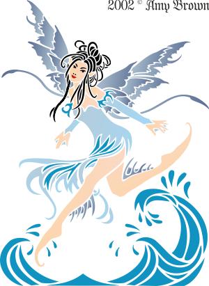 Фея воды (трафарет для декора)