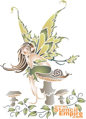 Задумчивая фея (трафарет для росписи)