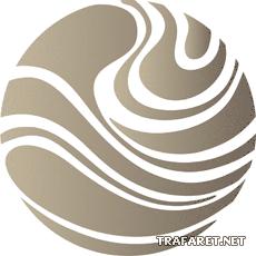 Абстрактный шар (художественный трафарет)