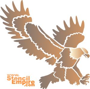 Американский орел (художественный трафарет)