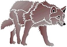 Степной волк (трафарет для декора)