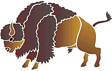 Американский бизон (трафарет для рисования)