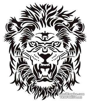 Трафарет Рычащий лев
