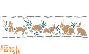Кролики (трафарет для росписи)
