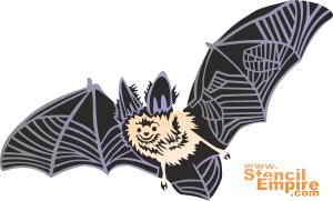 Летучая мышь (трафарет для росписи)