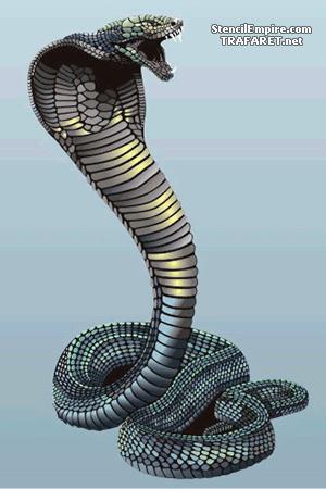 Трафарет Большая злая кобра
