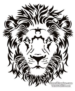 Трафарет Спокойный лев