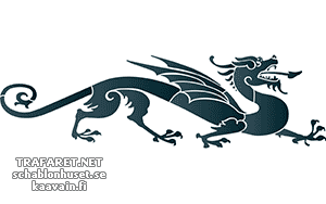 Трафарет Дракон 181