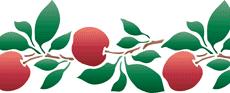 Яблочный бордюр 2 (трафарет для декора)