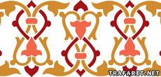 Бордюр арабеска 01 (трафарет для декора)