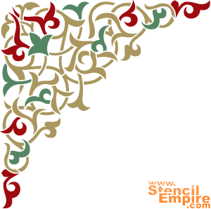 Угол арабеска 1 (трафарет для стен)