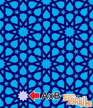Обои арабеска 23 (трафарет для росписи)