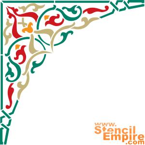 Угол ковра 2 (трафарет для декора)