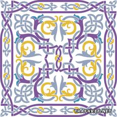 Панно арабеска 1 (трафарет для росписи)