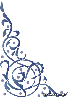 Угол арабеска 1 (трафарет для покраски)