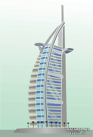 Бурдж аль-Араб (трафарет для декора)