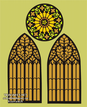Трафарет Две арки и окно