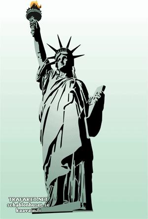 Трафарет Статуя Свободы