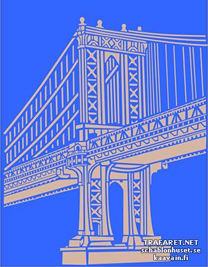 Трафарет Манхэттенский мост
