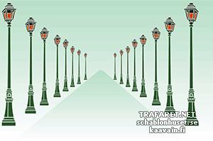 Трафарет Парижские фонари
