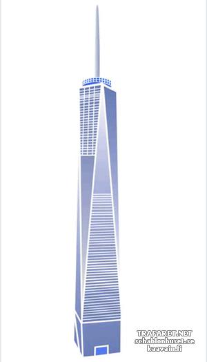 Трафарет Башня Свободы