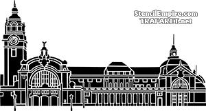 Трафарет Вокзал Висбадена