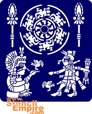 Орнамент Ацтеков (трафарет для декора)