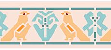 Птицы Ацтеков (трафарет для рисования)